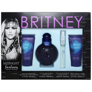 BRITNEY SPEARS MIDNIGHT FANTASY 4PCS GIFT SET FOR WOMEN
