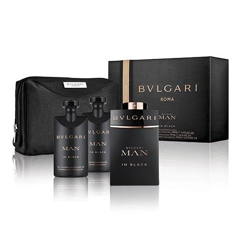 BVLGARI MAN IN BLACK 4 PCS GIFT SET FOR MEN