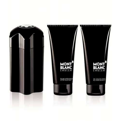 MONT BLANC EMBLEM 3 PCS GIFT SET FOR MEN