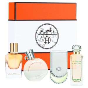 HERMES 4 PCS MINIATURE COFFRET GIFT SET
