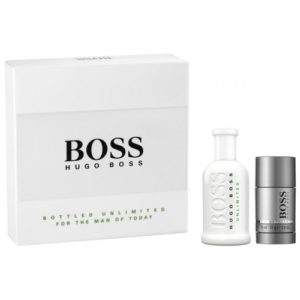 HUGO BOSS BOTTLED UNLIMITED 2 PCS GIFT SET FOR MEN