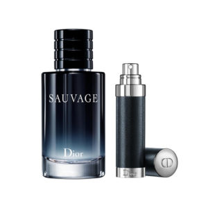CHRISTIAN DIOR SAUVAGE 2 PCS TRAVEL SET FOR MEN