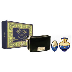 VERSACE POUR FEMME DYLAN BLUE 3 PCS GIFT SET FOR WOMEN