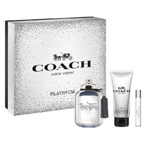 COACH NEW YORK PLATINUM 3 PCS GIFT SET FOR MEN