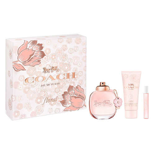 COACH NEW YORK FLORAL 3 PCS GIFT SET FOR WOMEN