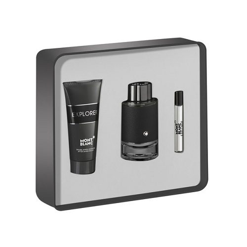 MONT BLANC EXPLORER 3 PCS GIFT SET FOR MEN