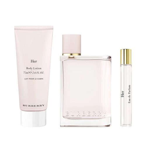 BURBERRY HER 3 PCS GIFT SET FOR WOMEN