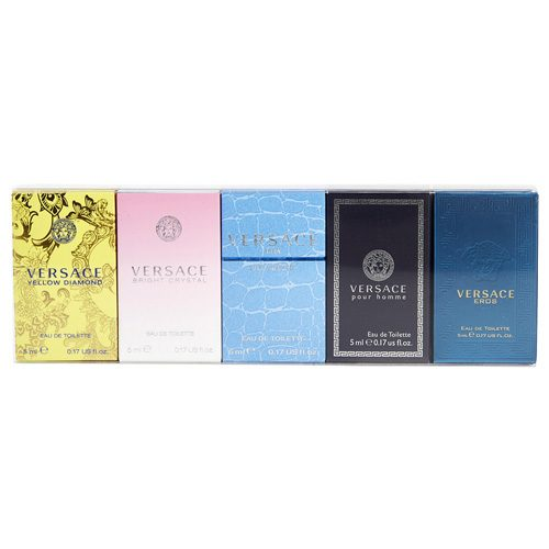 VERSACE MINIATURES COLLECTION 5 PCS GIFT SET FOR MEN AND WOMEN